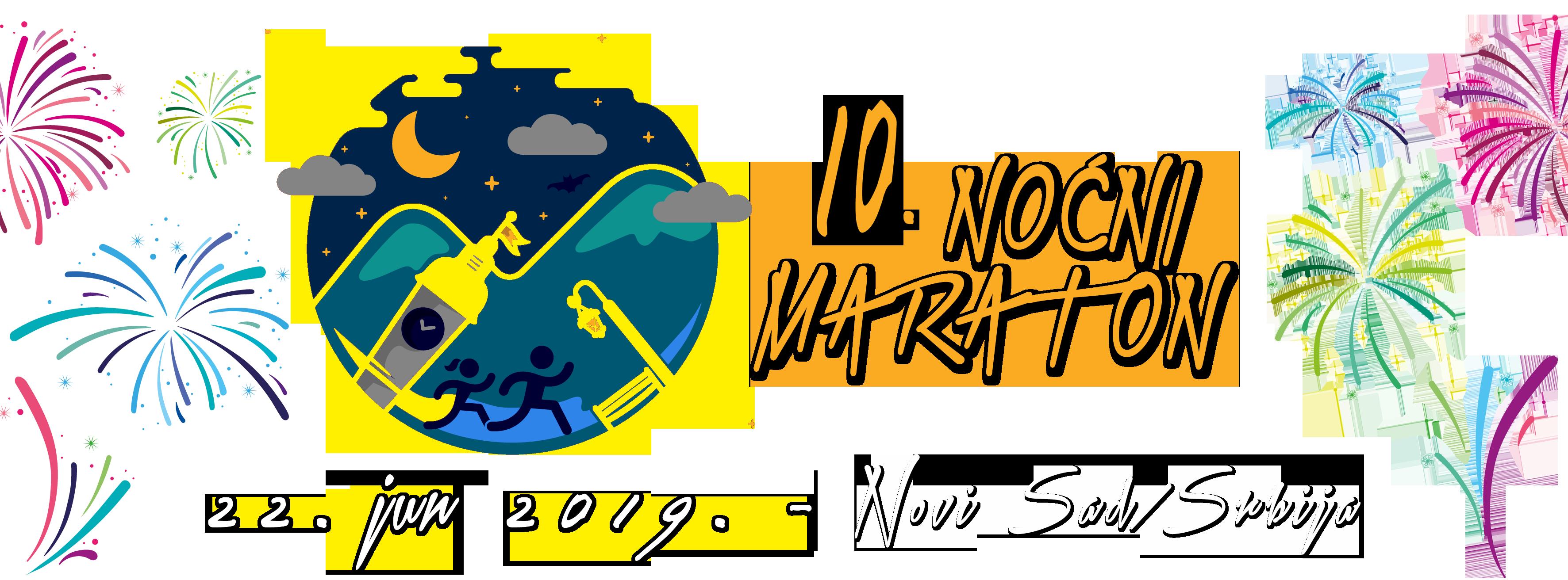10. Noćni maraton 2019. Novi Sad, Srbija