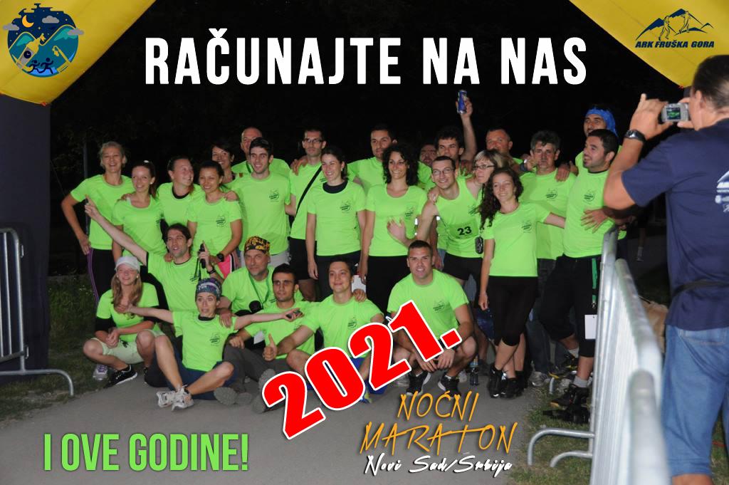 11. Noćni maraton 2020. Novi Sad, Srbija