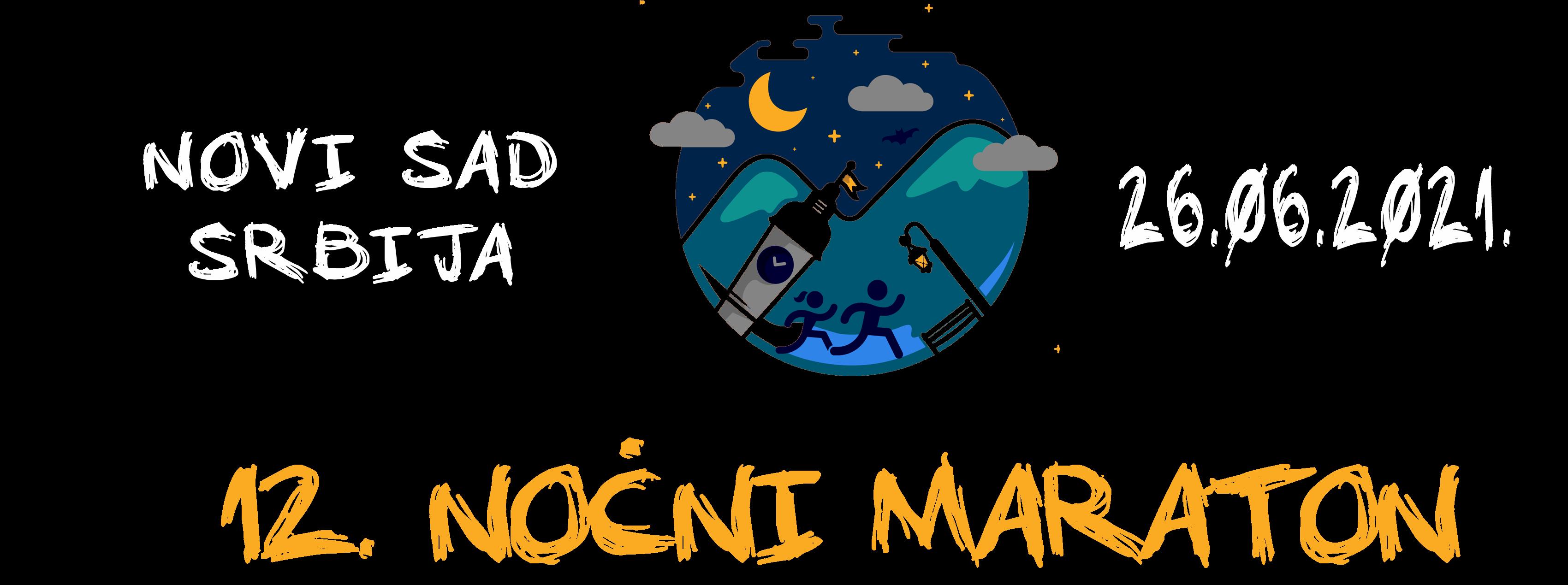 12. Noćni maraton 2021. Novi Sad, Srbija